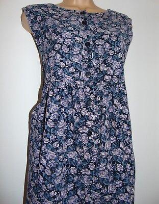 Laura Ashley Vintage Blu Navy/lavanda Millerighe Pagliaccetto Tuta Salopette, M-mostra Il Titolo Originale