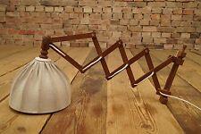 60er TEAK WANDLAMPE SCHERENLAMPE WALL LAMP LAMPE DANISH MODERN Jalk Juhl Ära