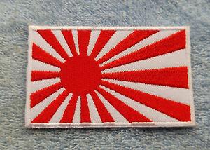 Kamikaze-Patch-Marine-Aufbuegler-Aufnaeher-Nippon-Japan-Flagge