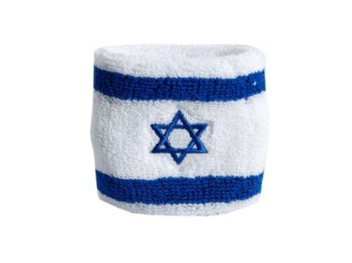 Schweißband Fahne Flagge Israel 7x8cm Armband für Sport