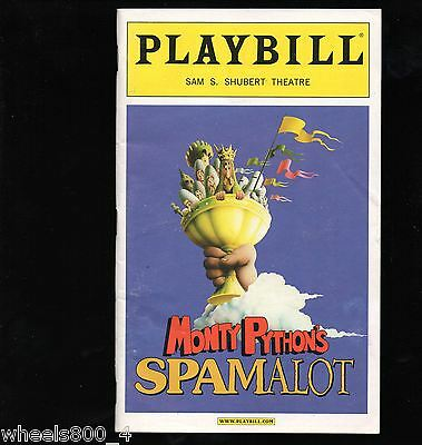Broadway Playbill SPAMALOT August 2005 Sam S. Shubert Theatre Excellent
