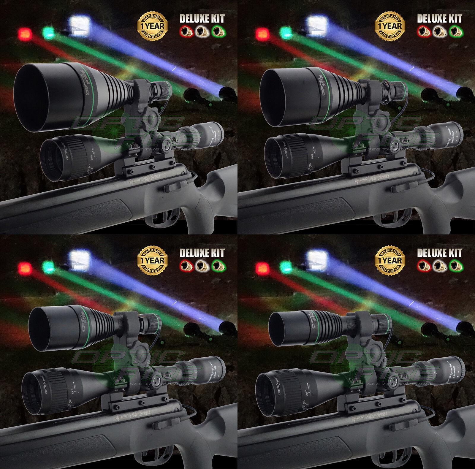 Opticfire ® XS 3 LED luce portata Mount PISTOLA Lampada Torcia da caccia Lamping DELUXE KIT