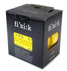 Fizik Superlight Dual Touch Classic/&Tacky Bar Tape w//logo 2mm Black NIB