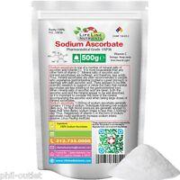 1.1 Lb (500g) 17.64 Oz Sodium Ascorbate Vitamin C, Kosher, Usp Pharma, Free Ship