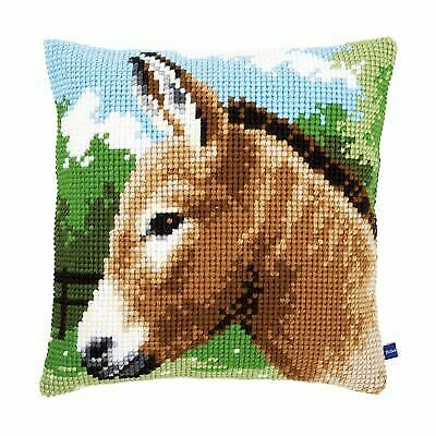 Donkey Chunky Cross Stitch Cushion Front Kit 40x40cm Vervaco