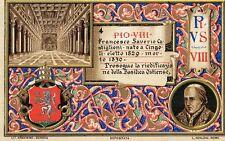 ANTIQUE RELIGIOUS POSTCARD POPE PIUS PIO VIII MADE IN ITALY