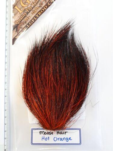 """LG  # 1 DYED MOOSE BODY HAIR { Mane } /"""" HOT ORANGE /"""" Hard to Find"""