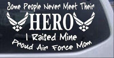 Hero Proud Air Force Mom Car or Truck Window Laptop Decal Sticker 10X5.6