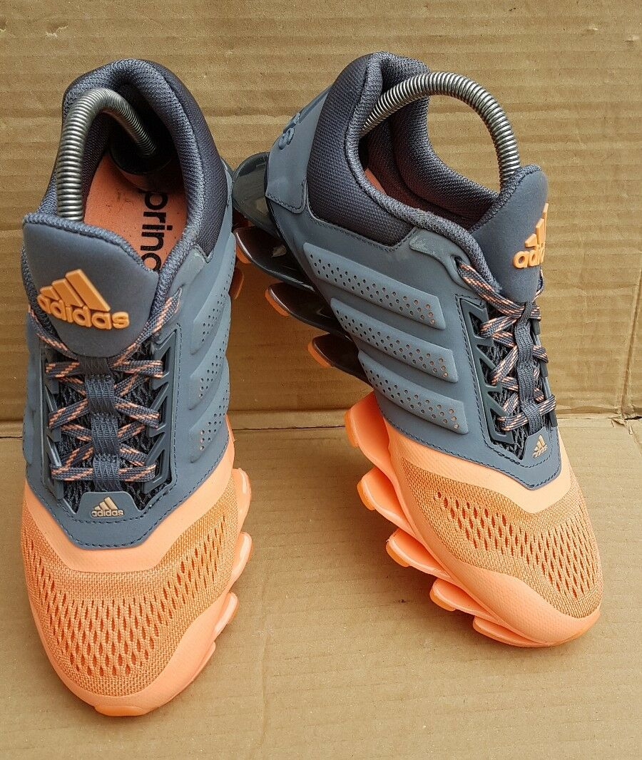 GORGEOUS TECHFIT PEACH AND gris ADIDAS SPRINGBLADE TRAINERS TECHFIT GORGEOUS IN SIZE 4.55 VGC f94fb9