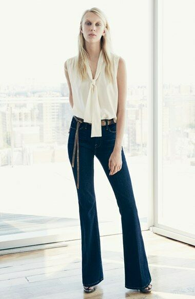 FRAME LE HIGH FLARE SUTHERLAND JEANS W24