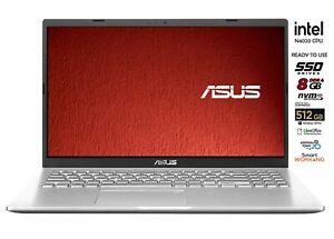 Asus Silver notebook,Ssd M.2 512Gb,Intel N4020 fino a 2,8Ghz. 8gb ram win 10 pro