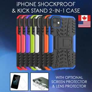 Heavy-Duty-Armour-2in1-Kickstand-Case-iPhone-11-Pro-Max-SE-XR-Shockproof-TPU