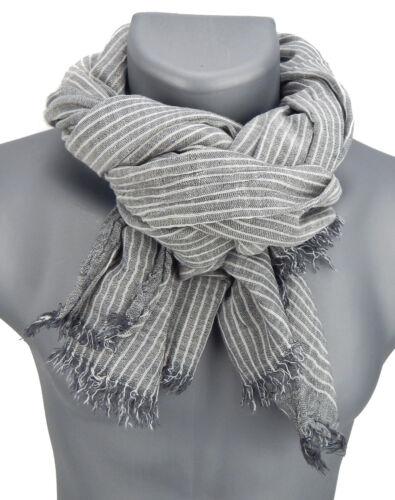Ella Jonte Men/'s Scarf Gray White Soft Men/'s Scarf Herrentuch Cotton