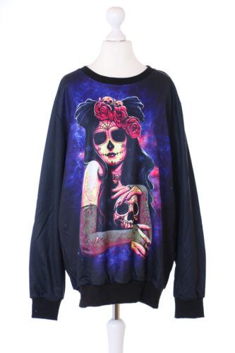 TY-YS-1002 Schwarz Braut Skull Totenkopf Fantasy Gothic Punk Sweatshirt Pullover