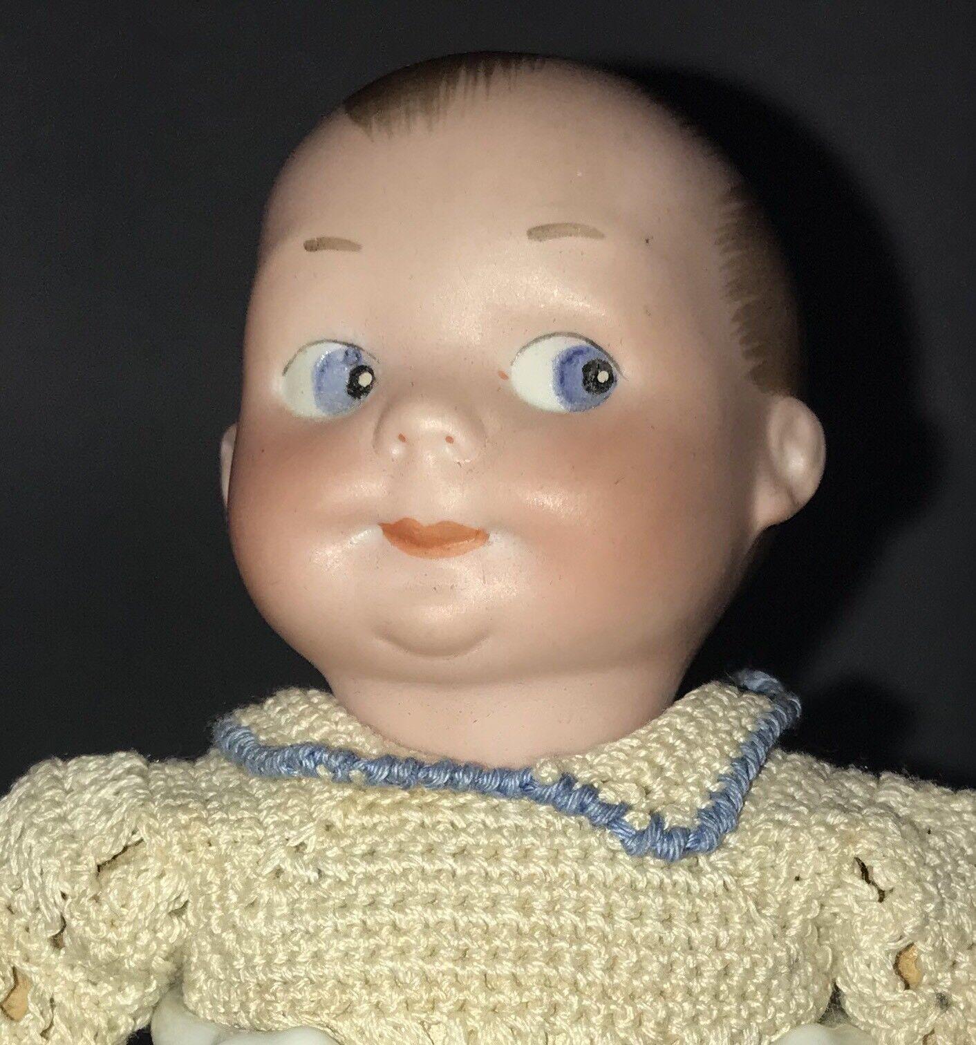 """6"""" Antique Geruomo Bisque Head Googly bambola A M  320   per il tuo stile di gioco ai prezzi più bassi"""