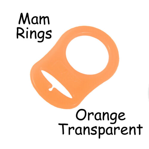 MAM Ring Dummy Pacifier Clip Adapter Transparent Silicone Pick Color /& Qty.