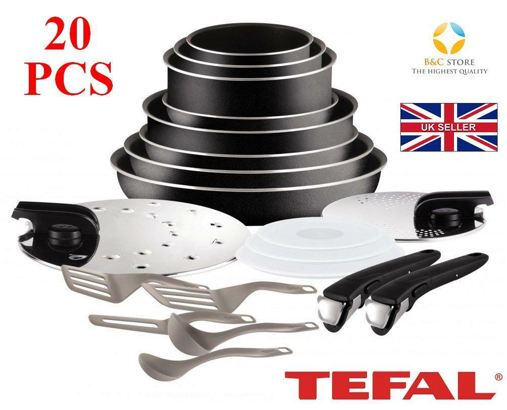 NEUF TEFAL Ingenio comportant Essentiel L2009702 Cookware Set 20 pcs Couvercle Pots Pan cuisine