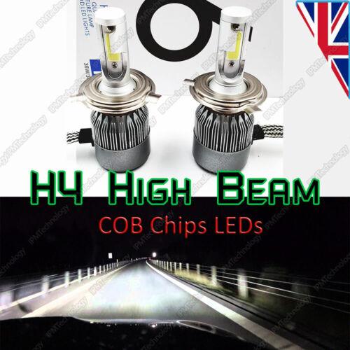 2x H4 Main High Beam COB Chips LED Bulbs Xenon White Headlights Conversion Kit