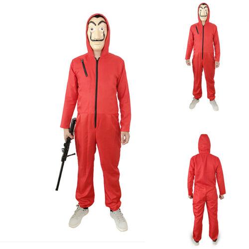 La casa De Papel Cosplay Costume Suit Salvador Dali Money Heist Hoodie Jumpsuit