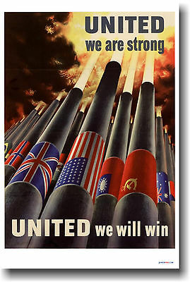 United We Are Strong - WW2 WPA Vintage Art Print POSTER