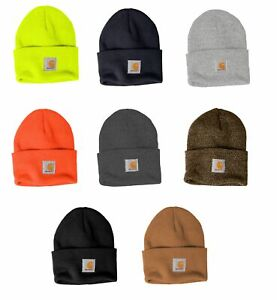 Carhartt Mens Acrylic Watch Beanie Winter Knit Beanie Cap/Hat A18 - Choose Color