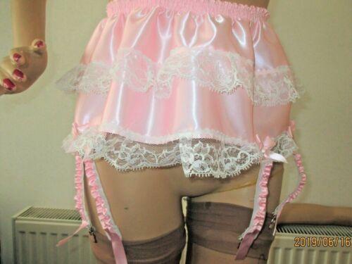 Size 8-26,Ladies,Womens,Deep,Wide,Satin,lace,8 strap,Suspender Belt,Metal Clips
