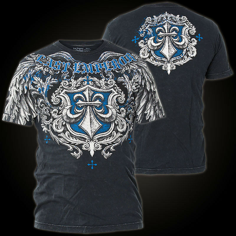AFFLICTION T-Shirt Solo Mission Schwarz T-Shirts Herren  affliction Solo