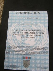 UN-UNITED-NATIONS-UNPROFOR-MEDAL-CERTIFICATE-QUALITY-ITEM
