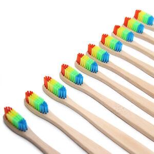 z-B-Rainbow-Kopf-Bambus-Zahnbuerste-aus-Holz-NATUR-MUNDPFLEGE-weichen-Borsten