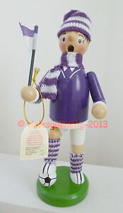 Räuchermann - Fußballer lila-weiß