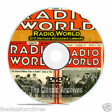 Radio World, 217 Vintage Old Time Radio Magazine Collection in PDF on DVD B85