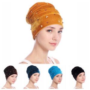 Bandanas-Scarf-Head-Wrap-Hijab-Velvet-Cap-Chemo-Hat-Muslim-Turban