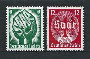 DR Nazi WWII Germany Rare WW2 Mint Stamps 1934 SAAR inhand Plebiscite Referendum