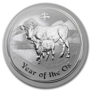 1 Kg Argent, Silver Pièce Lunar Ii Boeuf, Ox 2009 Perth Australia 30 Dollars-afficher Le Titre D'origine ImperméAble à L'Eau, RéSistant Aux Chocs Et AntimagnéTique