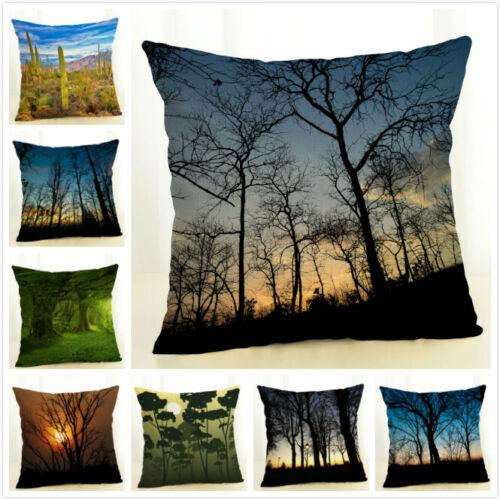 Sunrise FOREST Décor Taie D/'Oreiller Décoratif Maison//Bureau Canapé Housses De Coussin