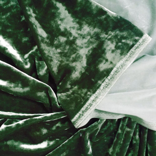 "CRUSHED PANNE VELVET VELOUR 4-WAY SPANDEX FABRIC DRESS CLOTH CRAFT CURTAIN 46""W"