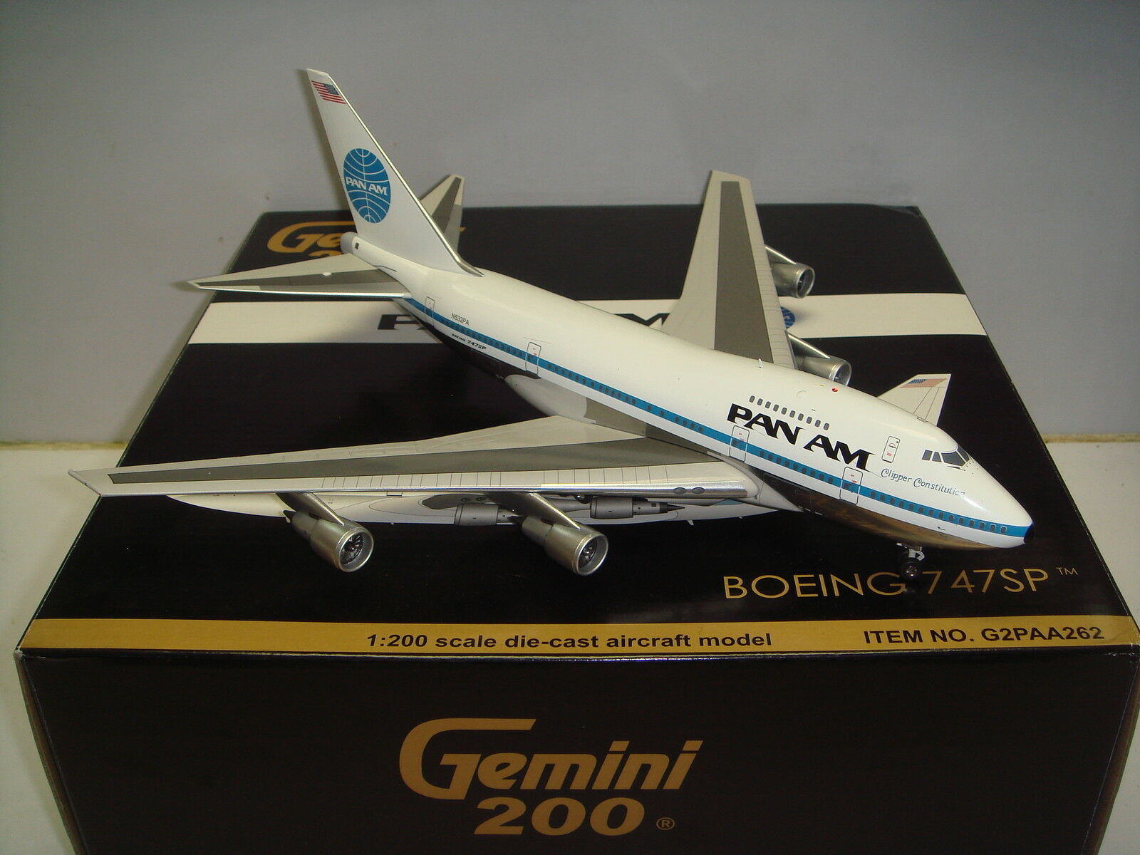 Gemini Jets 200 Pan American Pan Am B747-SP  1970s Color-Clipper Constitución
