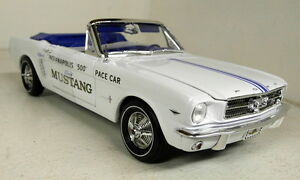 Autoworld-1-18-Scale-AW209-1964-5-Ford-Mustang-Indianapolis-500-Pace-Car-Model