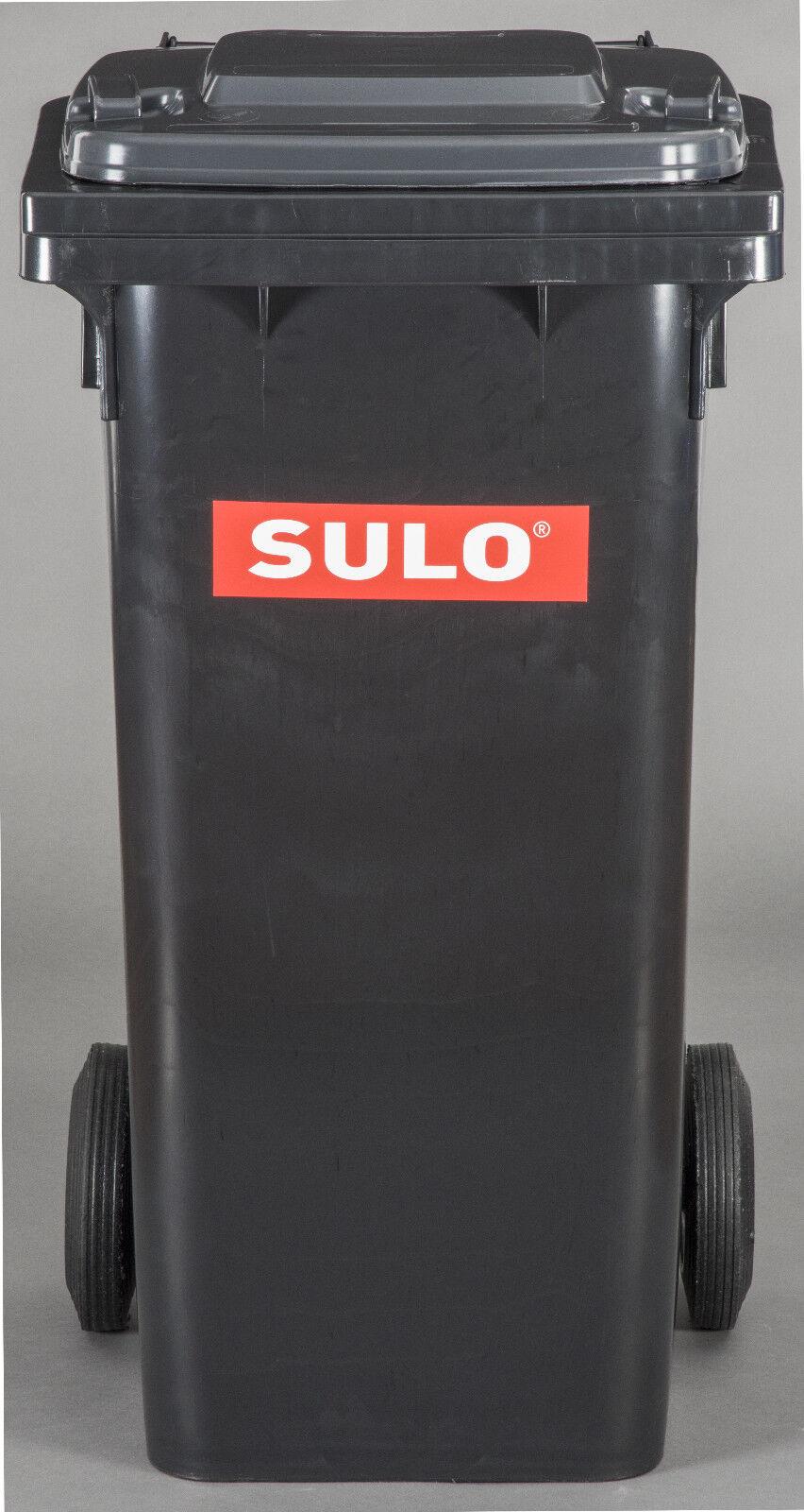 120 Liter Abfalltonne, Restmülltone, Restmülltone, Restmülltone, Abfallbehälter, Tonne, Behälter NEU schwarz ade36d