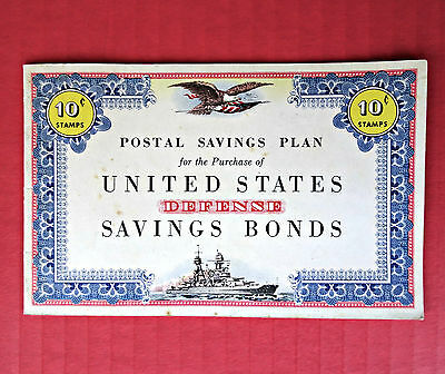 Vintage WW II 1941 Unused Booklet US Defense Savings Bonds Battleship Album