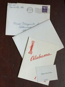 1942 University of Alabama Graduation Invitation 25885 | eBay