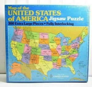 Map Of America Jigsaw.Vintage 1990 Map United States Of America 300 Pc Jigsaw Puzzle Golden