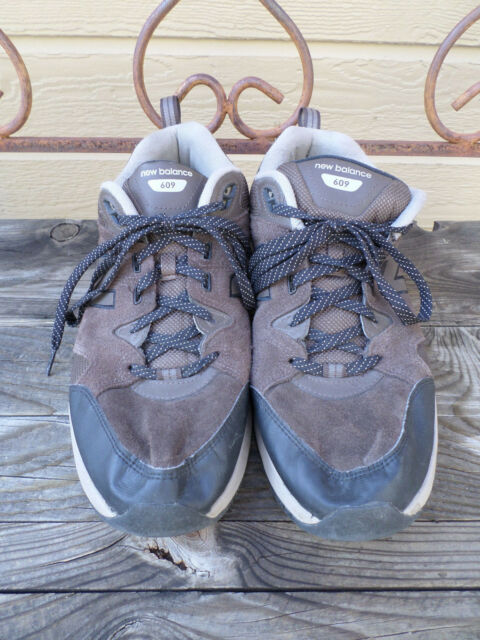 Brown Suede and Mesh Running Shoes