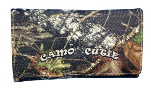 Mossy Oak Camo Western Wallet Zipper Pocket Mossy Oak Camo Tri Fold Wallet BT-3