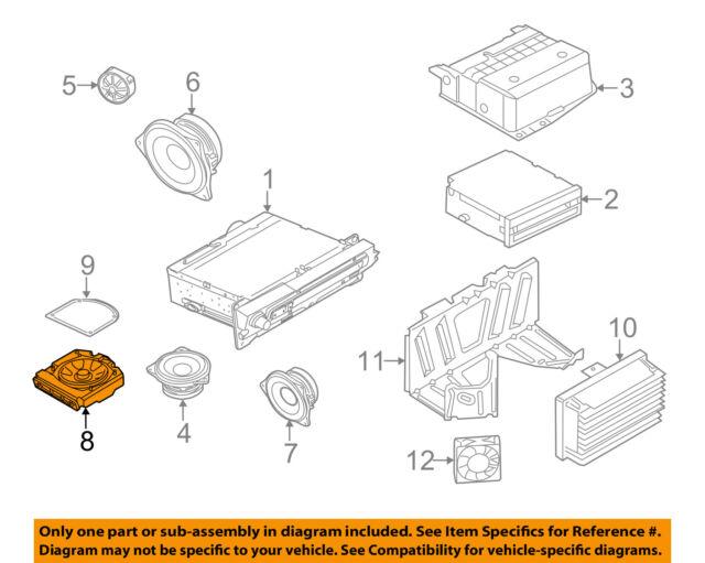 bmw oem 11-16 550i xdrive stereo audio radio-woofer speaker left 65139169687