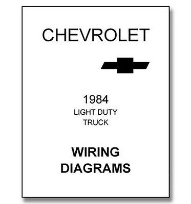 1984 chevy truck wiring diagram  ebay