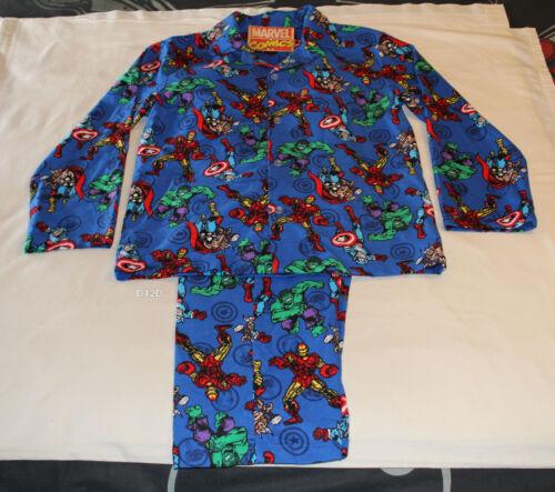 M Marvel pigiama flanella Blue taglia Mens The Avengers Imposta Nuovo stampato Comics HWqrvH