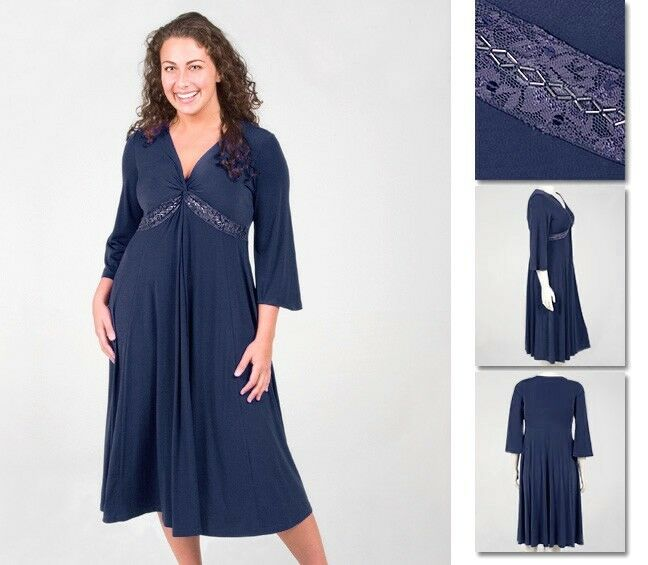 NEW Zaftique SWING KNOT Dress NAVY blueE 2Z 4Z 5Z   20 28 32   2X 4X 5X