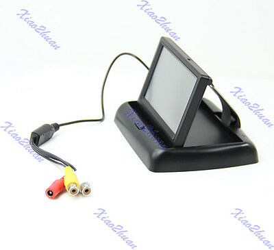 Foldable 4.3 inch TFT LCD Color Car Rear View Monitor Reverse Backup Camera
