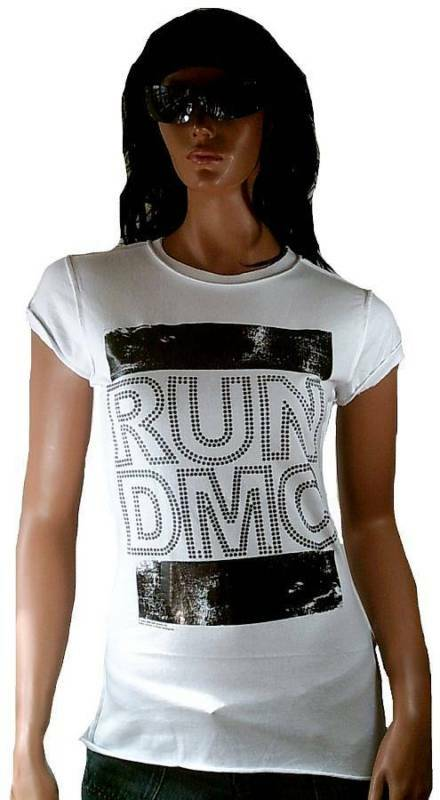 AMPLIFIED Official RUN DMC Strass schwarz 80'er Rock Star Vintage ViP T-Shirt g.L